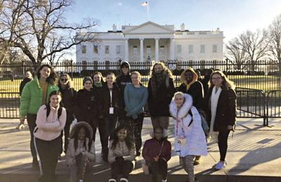 The Science Matters 4-H group visits the White House. Photo Courtesy of 4-H