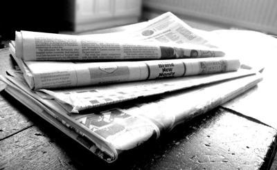 Newspaper artwork