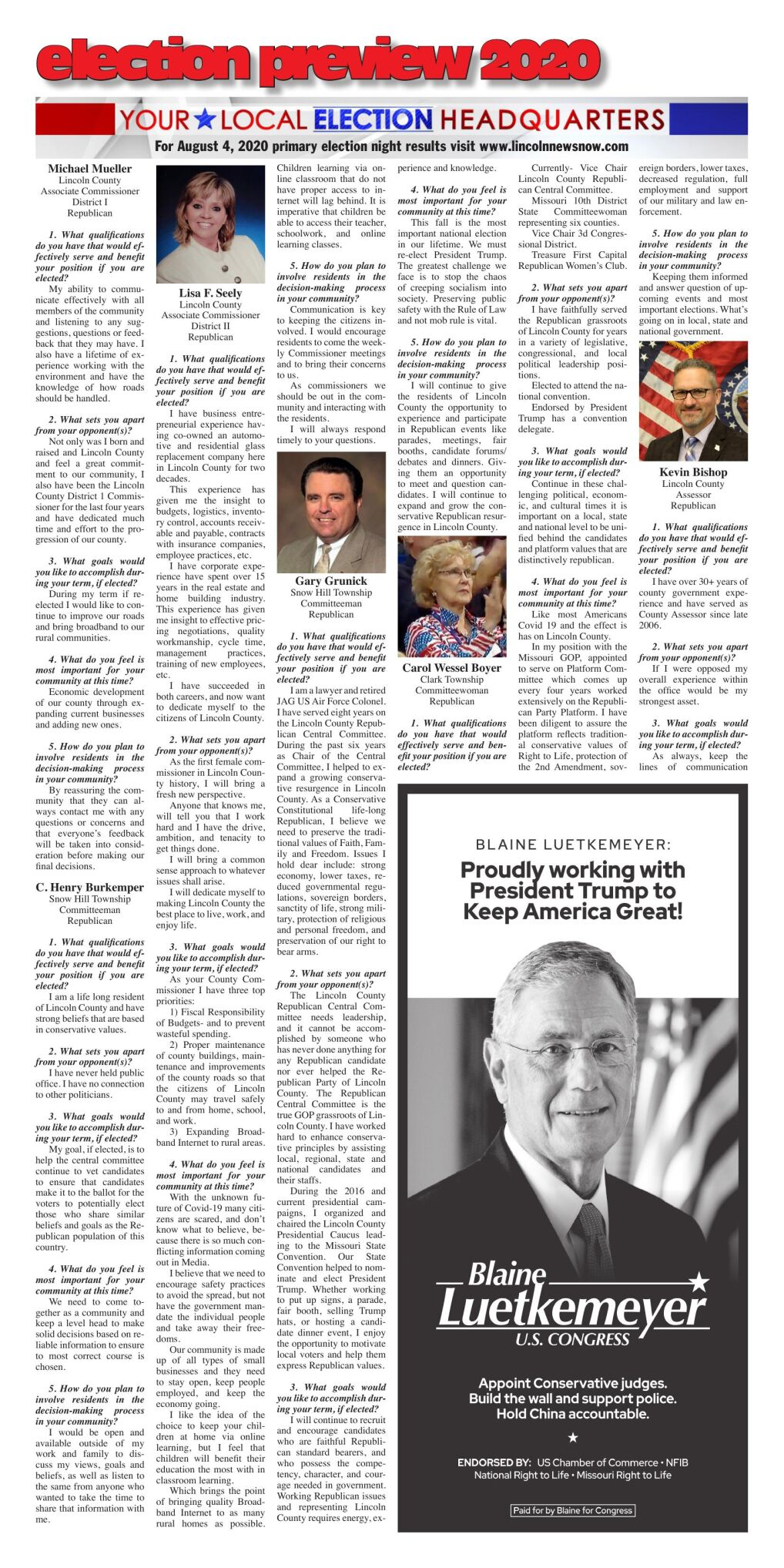 2020 Lincoln County Primary Election Preview