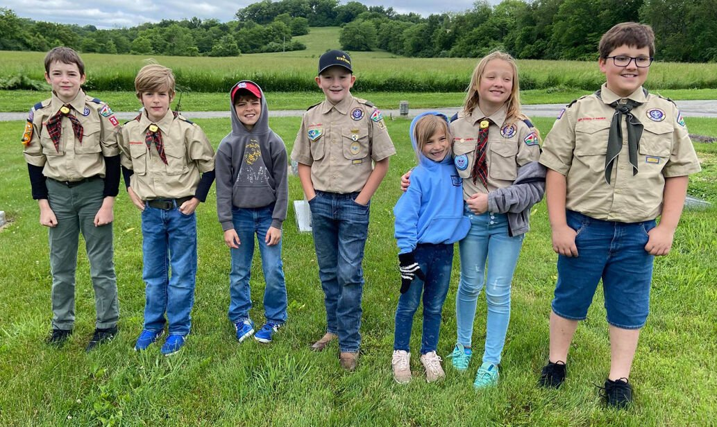 Scouts from Pack 391 and Troop 389