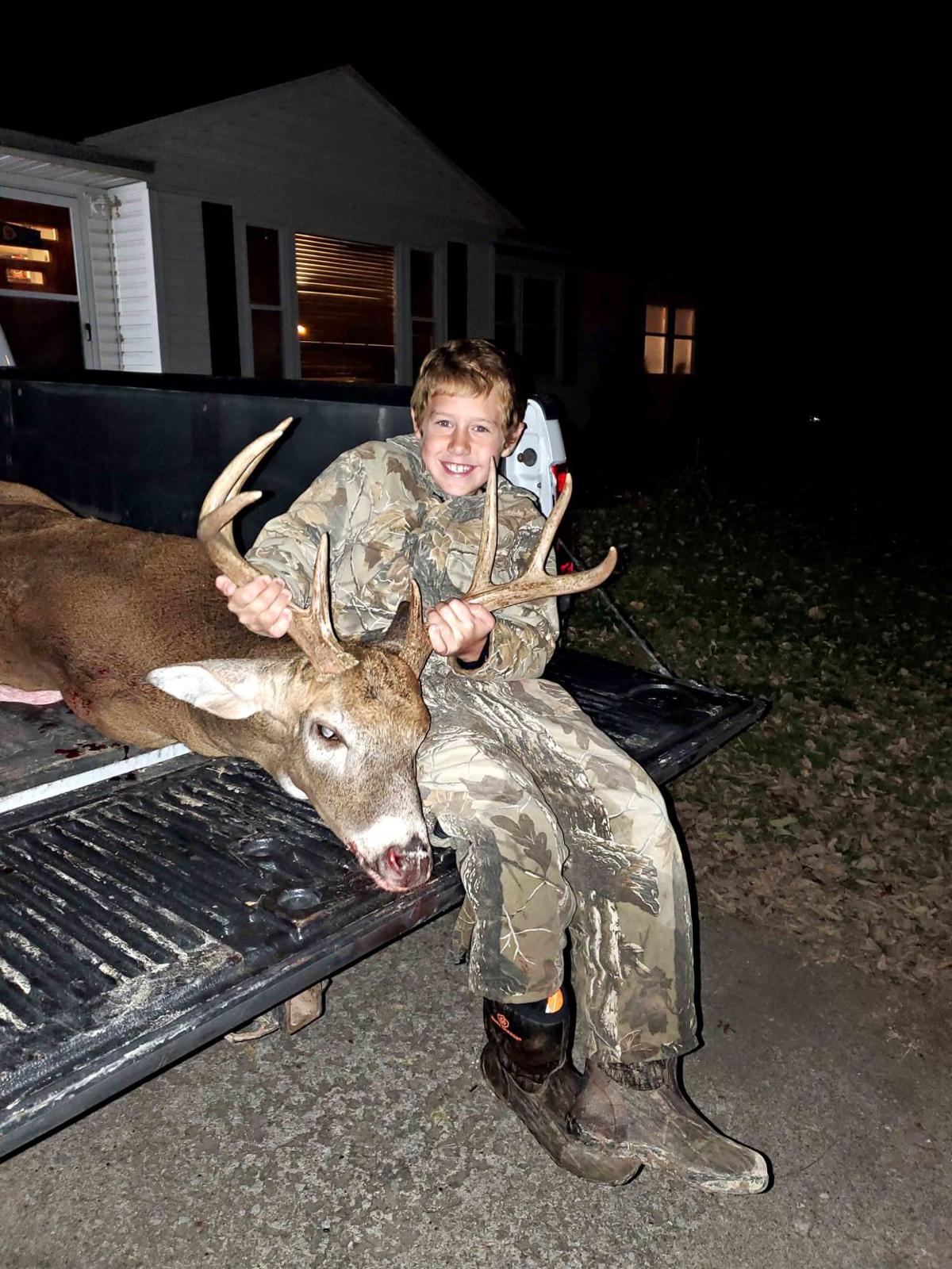Colton Trower, 9 , of Troy, 1st deer, youth season.jpg