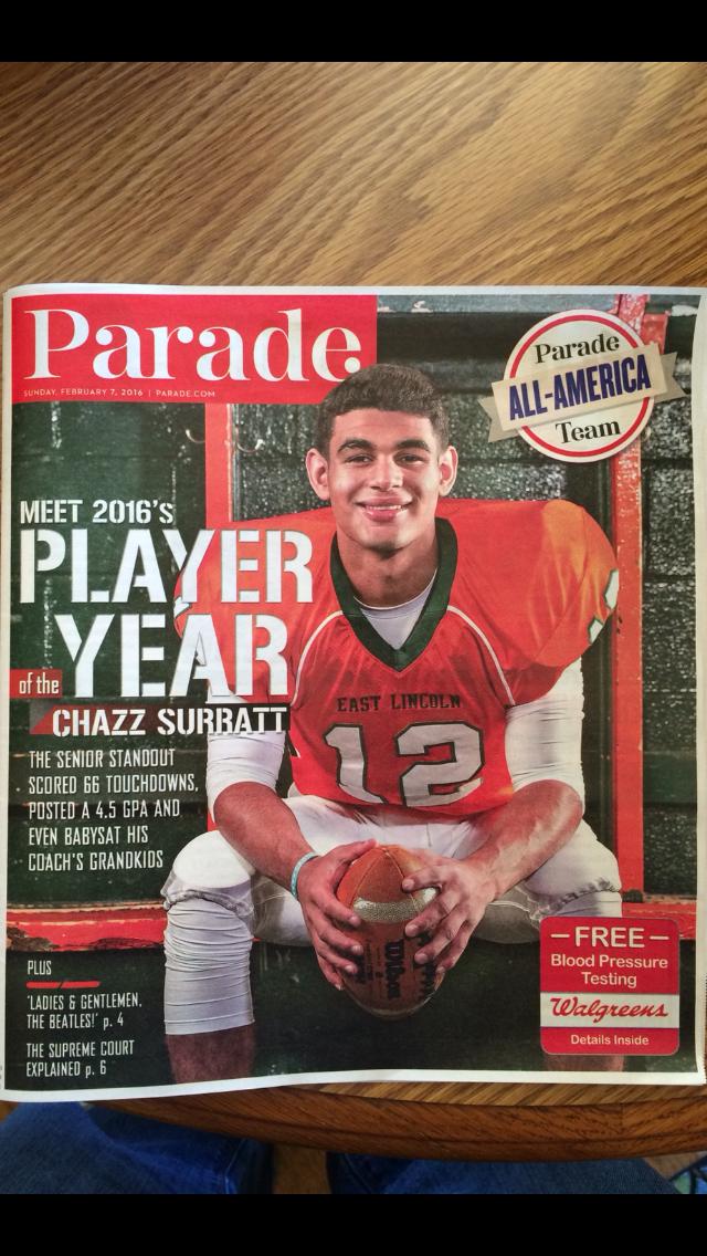 Chazz Surrattn Parade Magazine Cover
