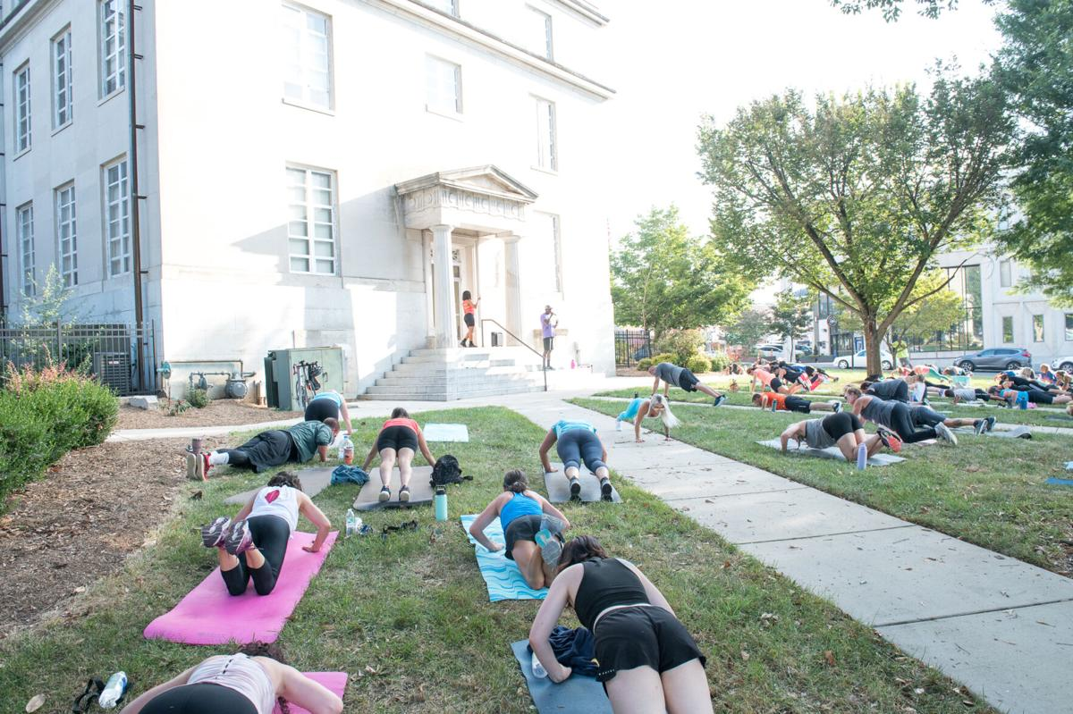 Working out on courthouse lawn-1.jpg