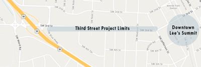 Third Street Corridor map