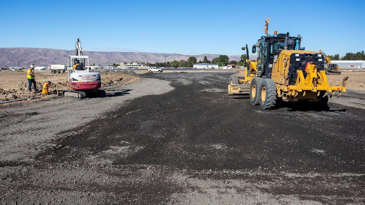 Taxiway work cleared for takeoff