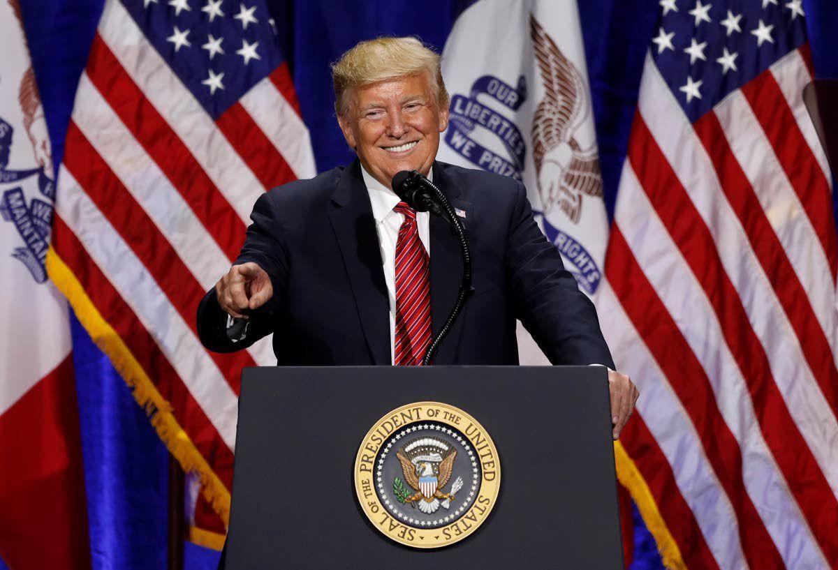 Trump, Biden trade barbs in Iowa visits