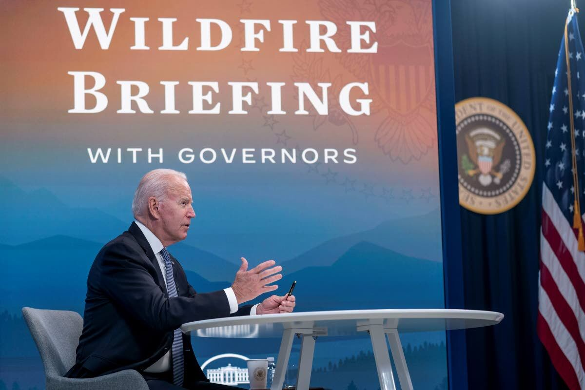 Biden sees shortages to stop wildfires