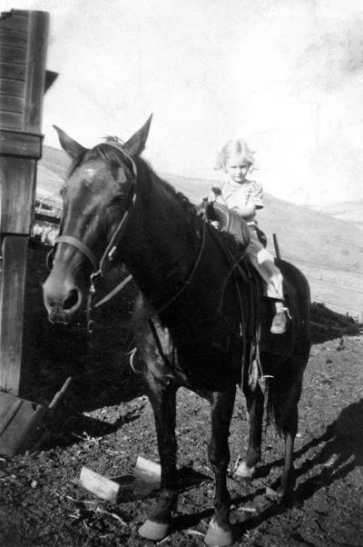 Blast from the Past / 1940s: A tiny girl on a big horse