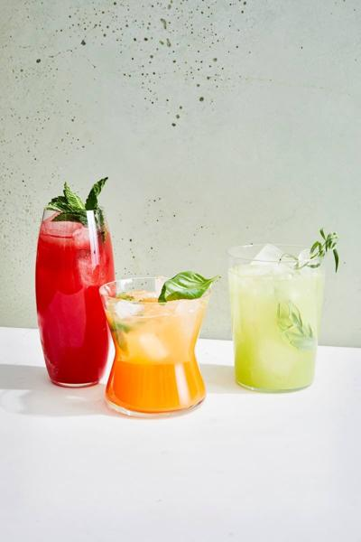 On a hot day, chill out with a cool drink