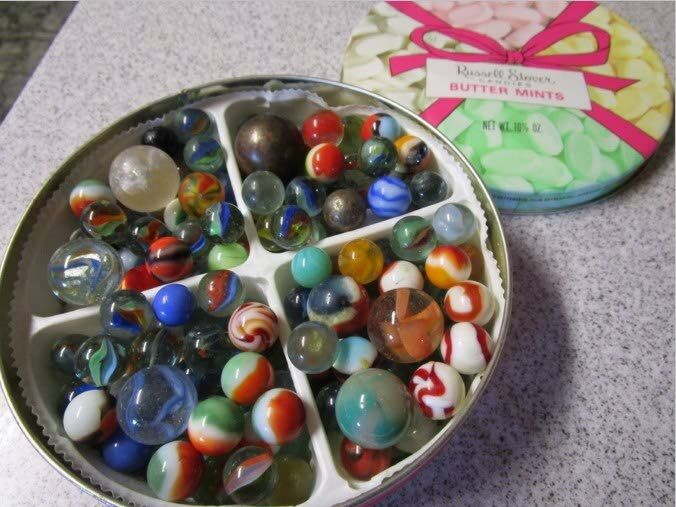 Bought marbles at Newberry's; haven't lost them yet