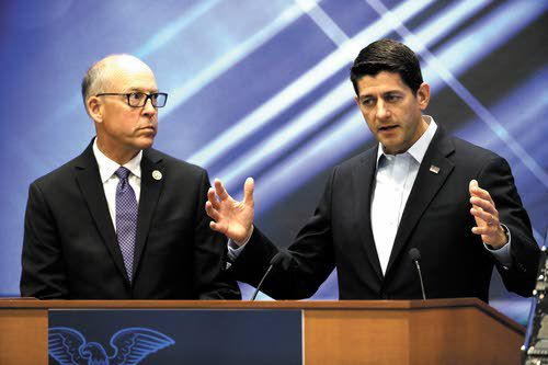 Paul Ryan Arrives In Oregon To Fundraise For Rep. Greg Walden