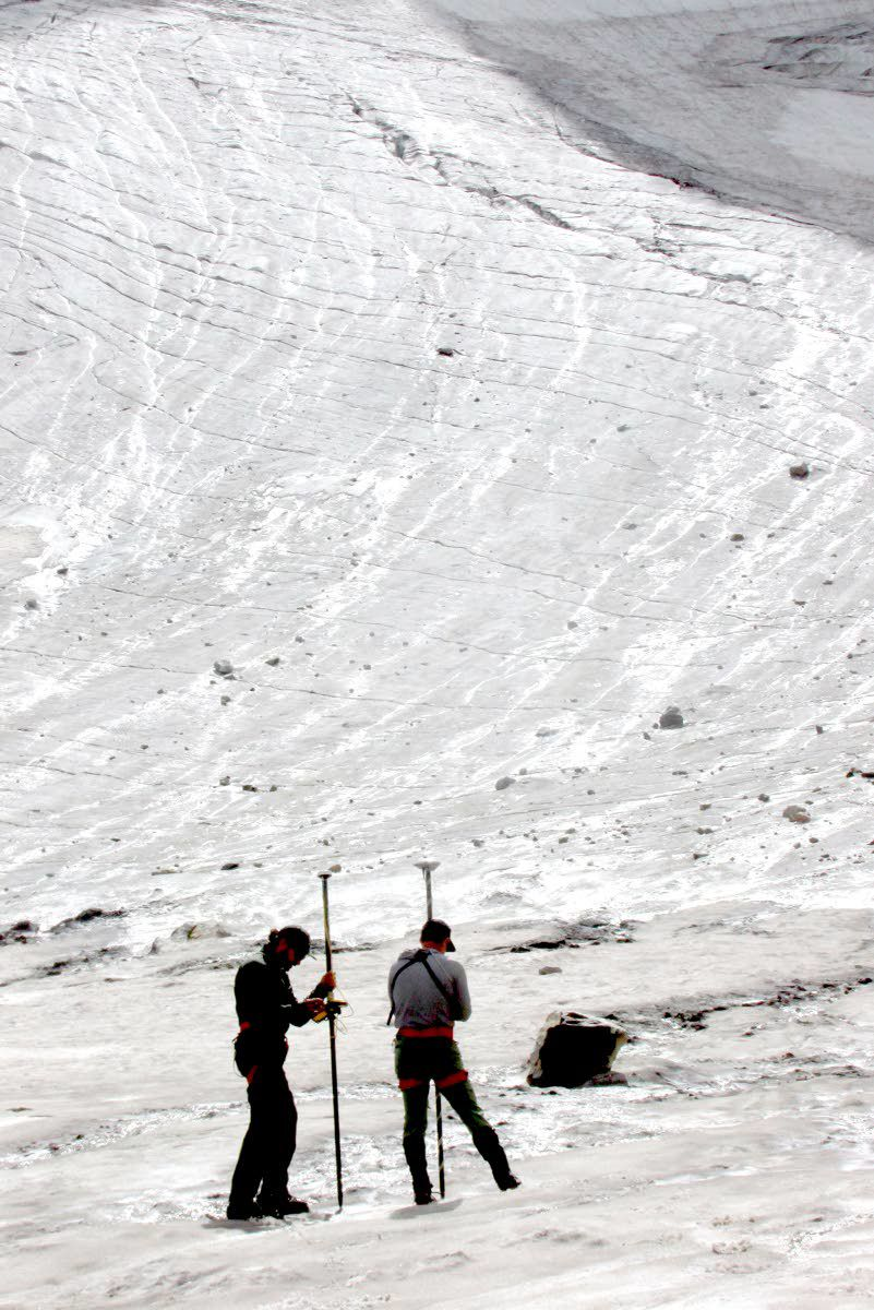 National park crew is taking the pulse of a glacier