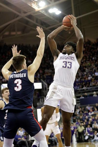 Zags use late 3-pointers to beat Huskies