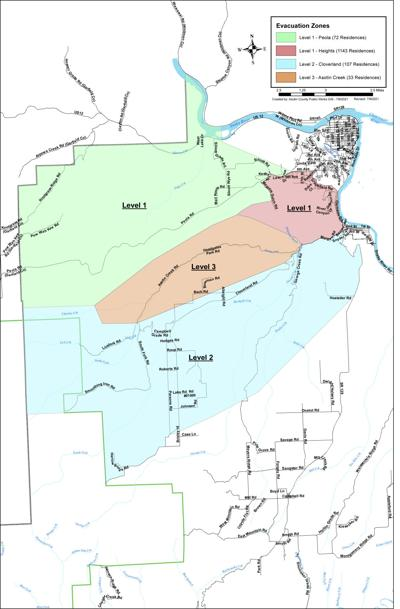 Asotin County evacuation map