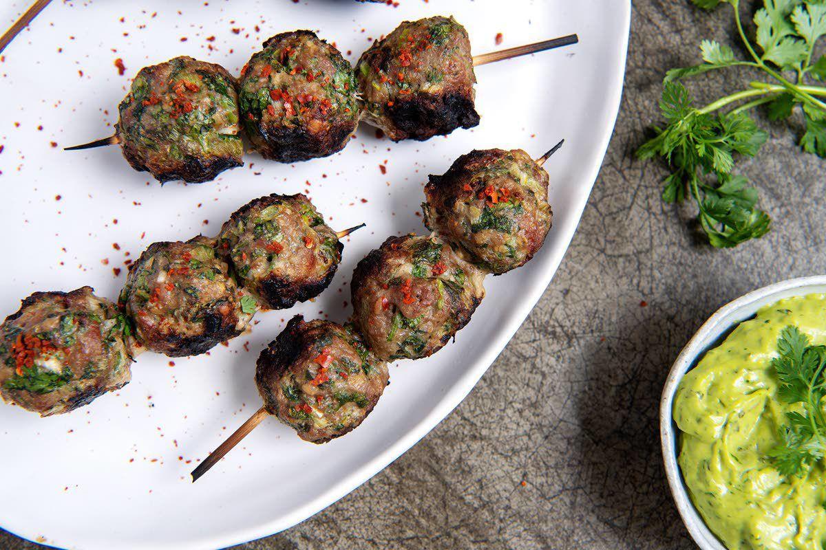 Herbs bring big flavor to tiny meatballs