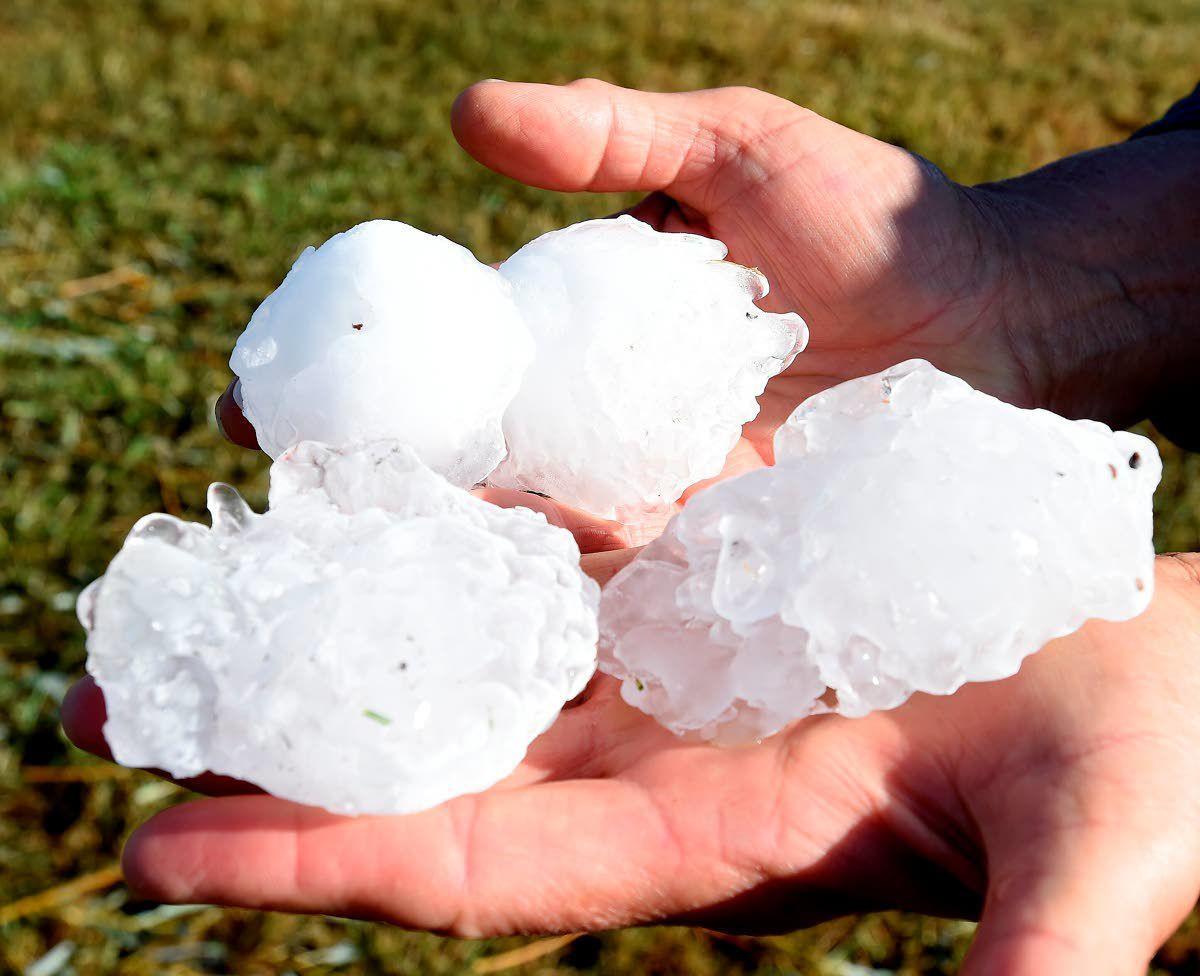 Hail, rain and wind cause damage in Montana
