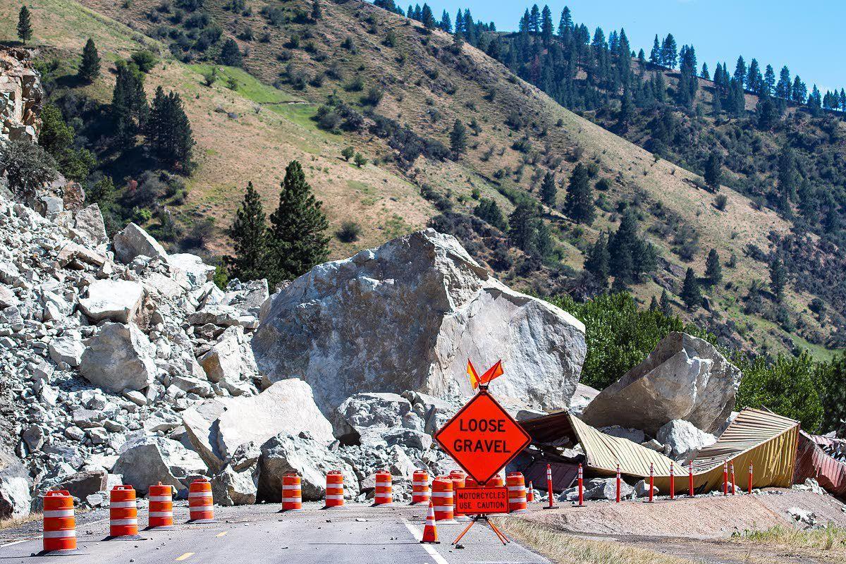 More rockfall will keep highway closed