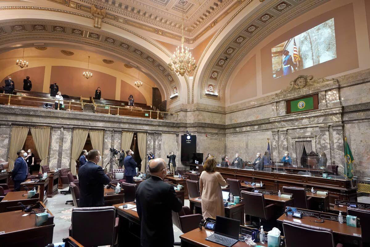 Washington Legislature convenes under tight security