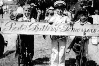Blast from the Past / 1930s: Out in front of dad's band