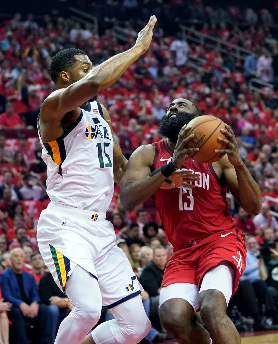 Harden, Rockets grit their way past Jazz
