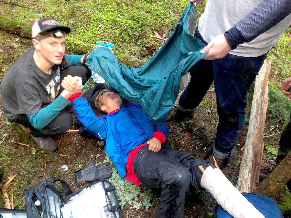 Teens rescue student pinned by fallen tree