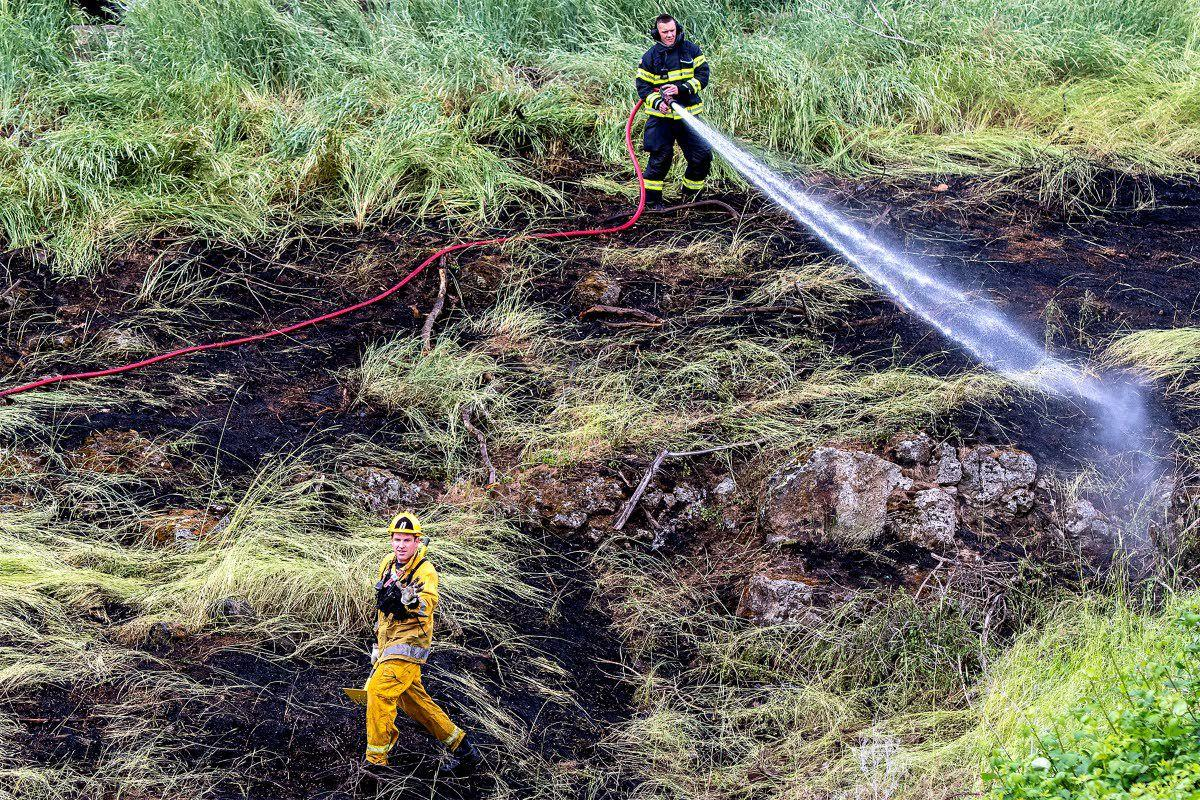 Grass fire quickly doused