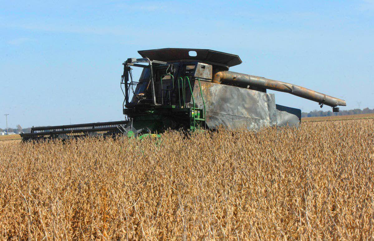 Neighbors provide help after combine goes up in flames