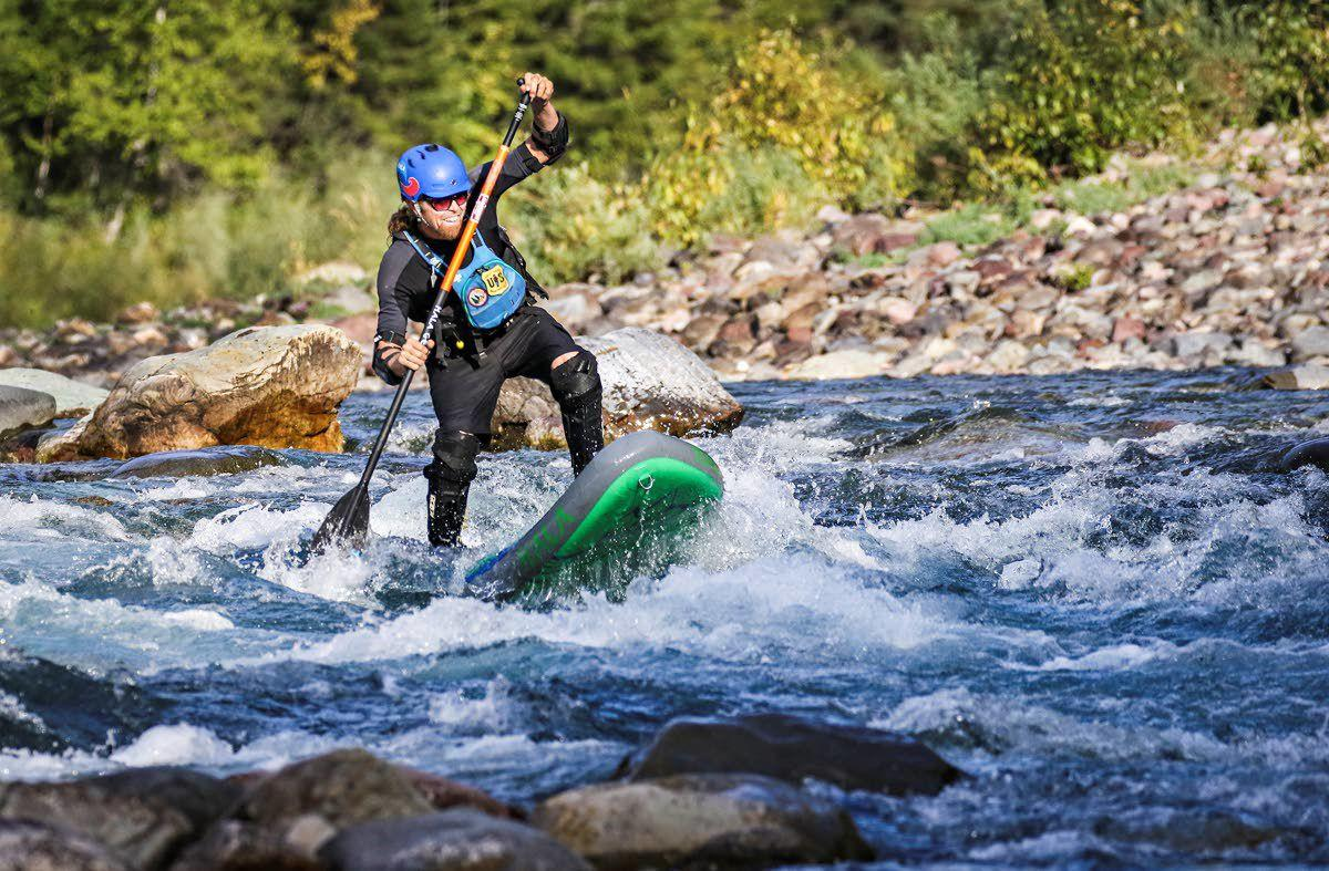 Man explores Montana's wild rivers on paddleboard