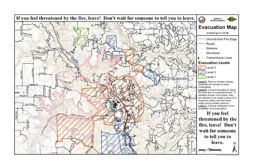 Kamiah Fire Map.Updated 6 45 P M Mandatory Evacuations For Kamiah East Of