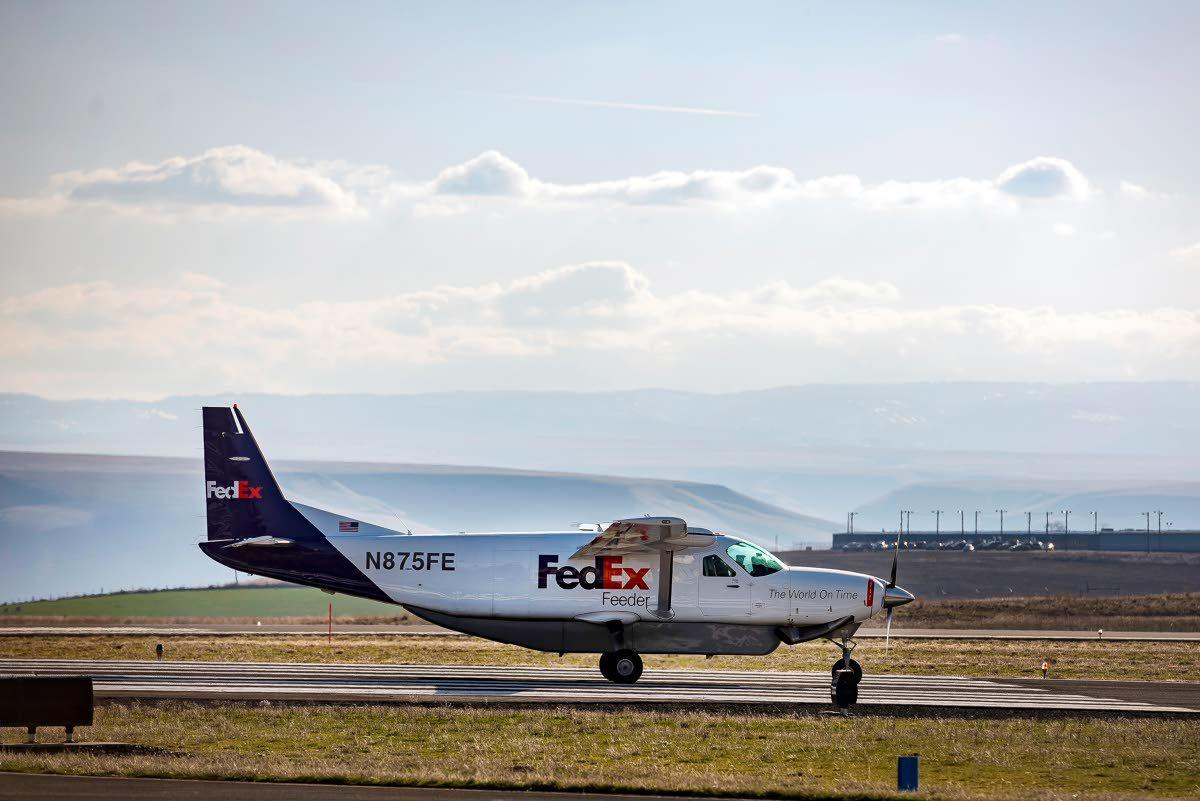 Taxiing toward runway rebuild