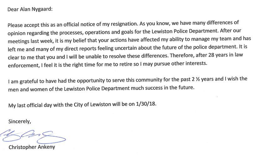 Lewiston police chief resigns | Northwest | lmtribune.com