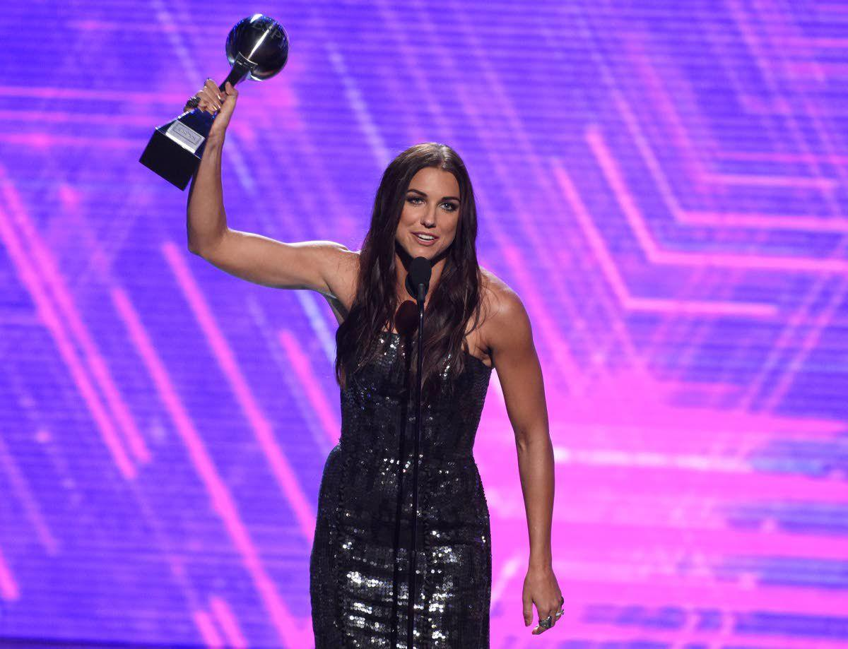 Morgan, U.S. women's team honored at the ESPYS