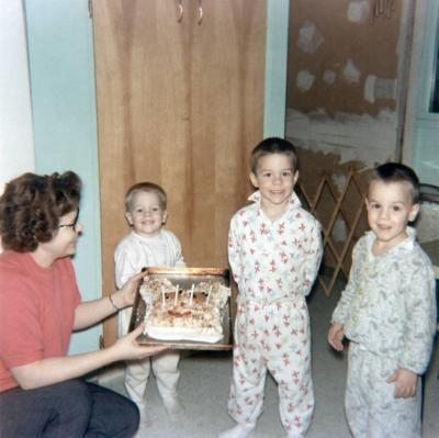 Blast from the Past / 1965: O'Kelley boys can't wait for cake