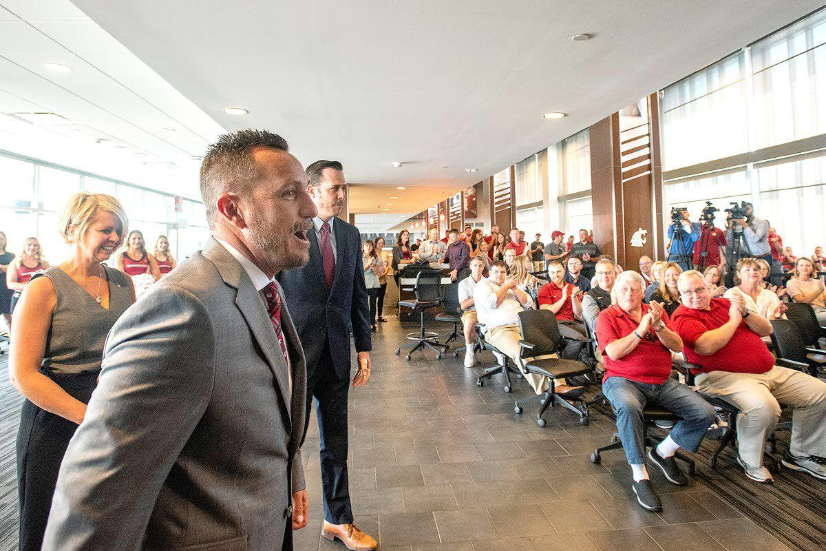 With emotion, WSU's new baseball boss lays out vision