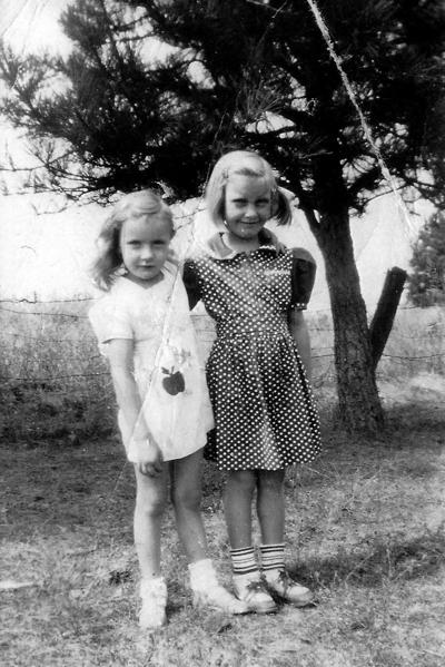 Blast from the Past / late 1940s: Sisters in the orchard