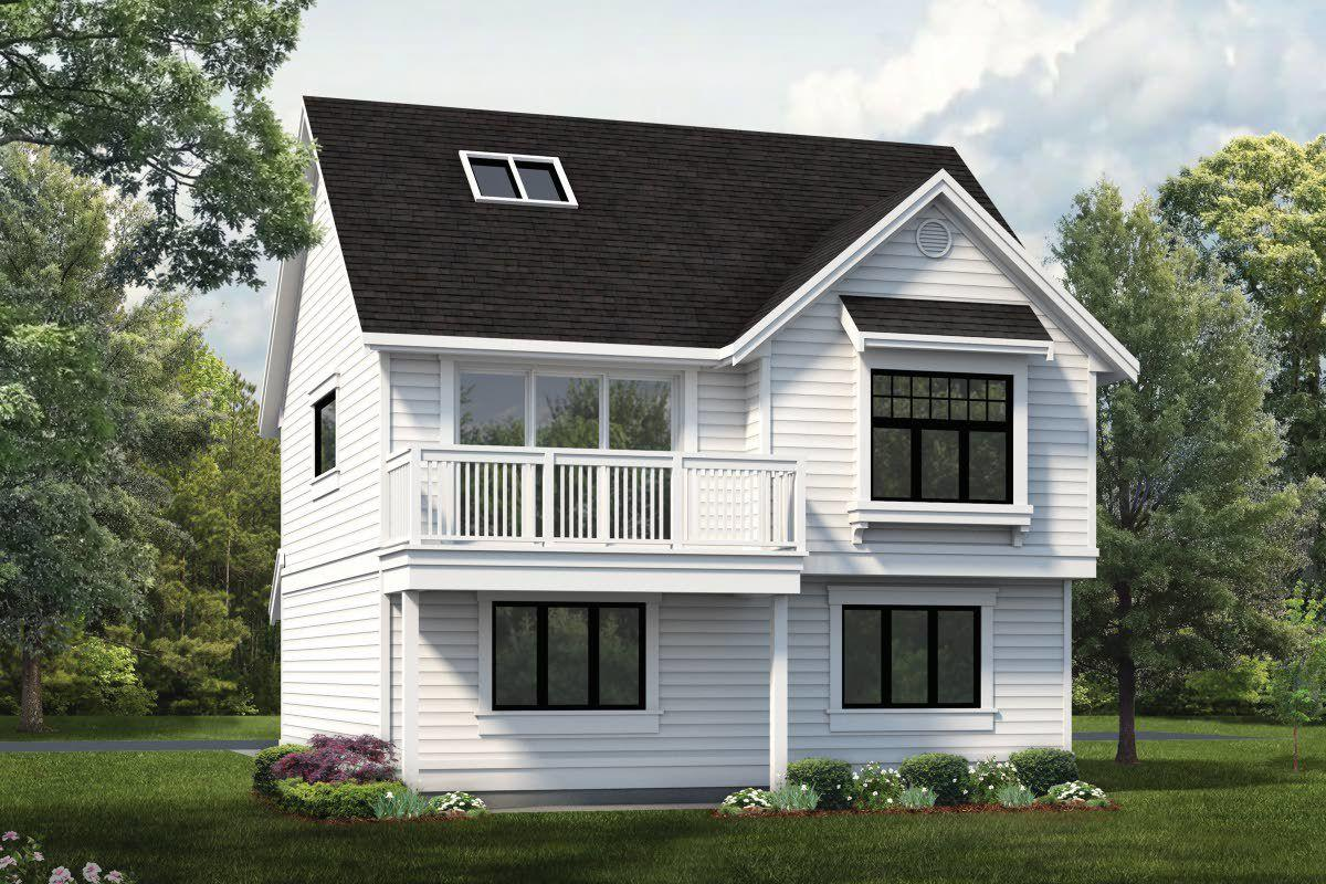 Comwith Parking Below And An Apartment Above This Garage Plan Works Well As A Tiny Home Or Added To Larger Property