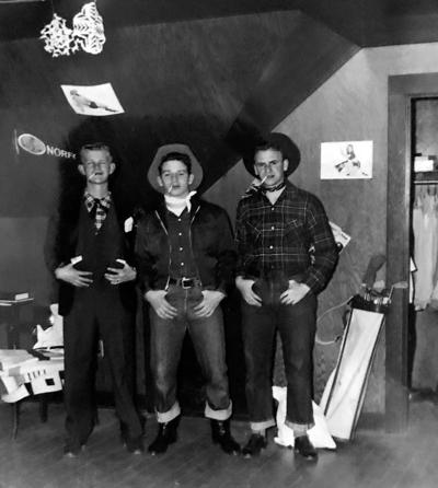 Blast from the Past / 1949: Three cowboys in their UI dorm room