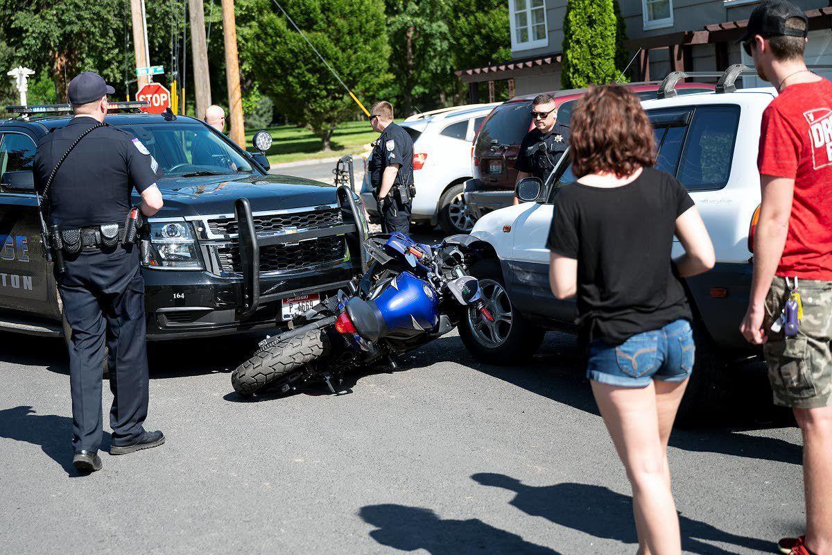 Suspect caught after crash into patrol vehicle