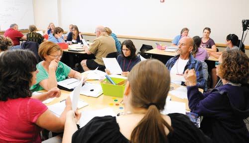 Math teachers go Back to School