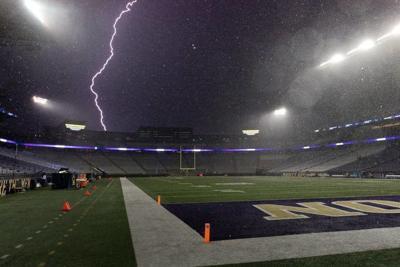 Seattle gets rare lightning barrage