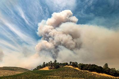 Wildfires again threaten California wine country