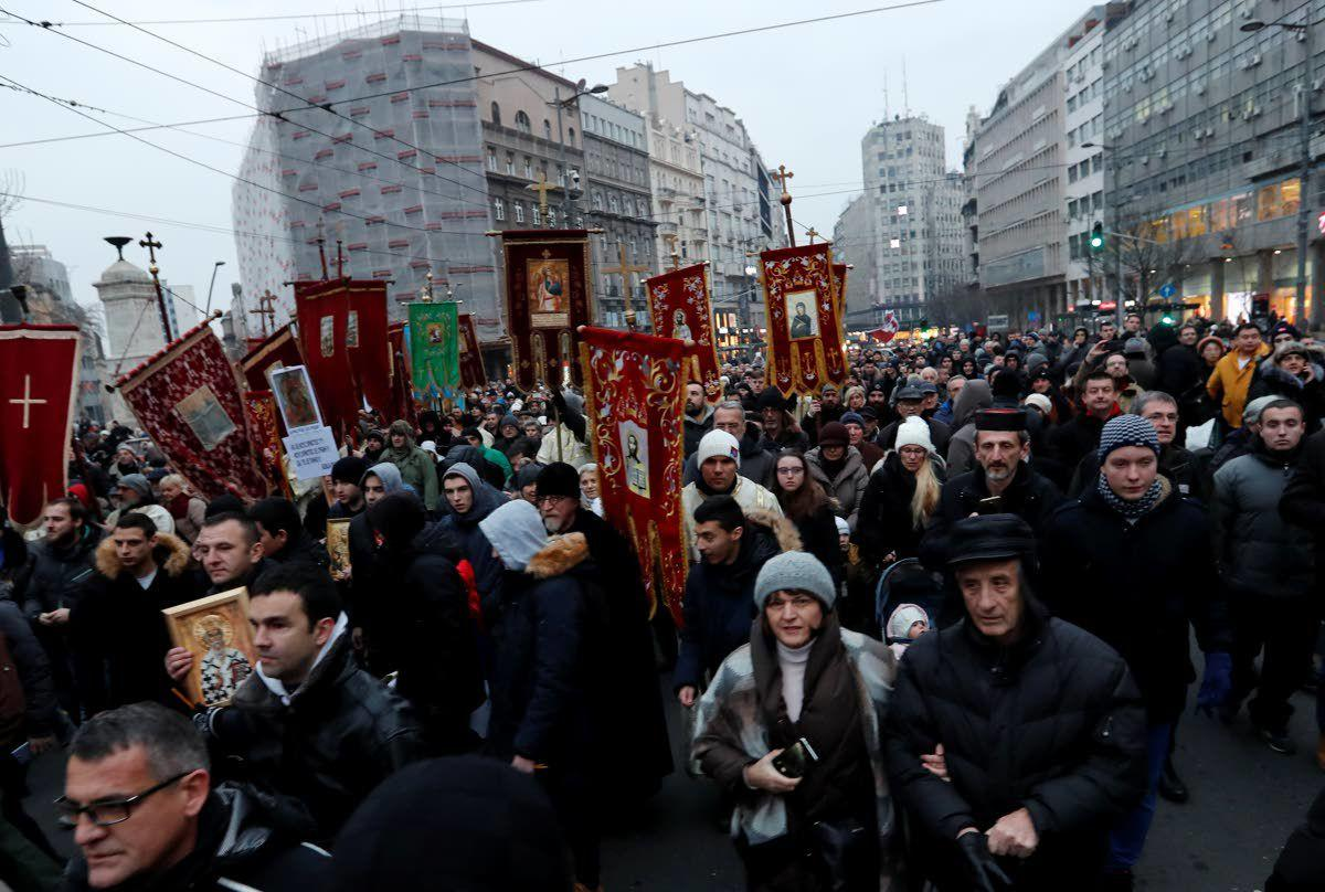 Serbian church protests 'suffering' of Serbs