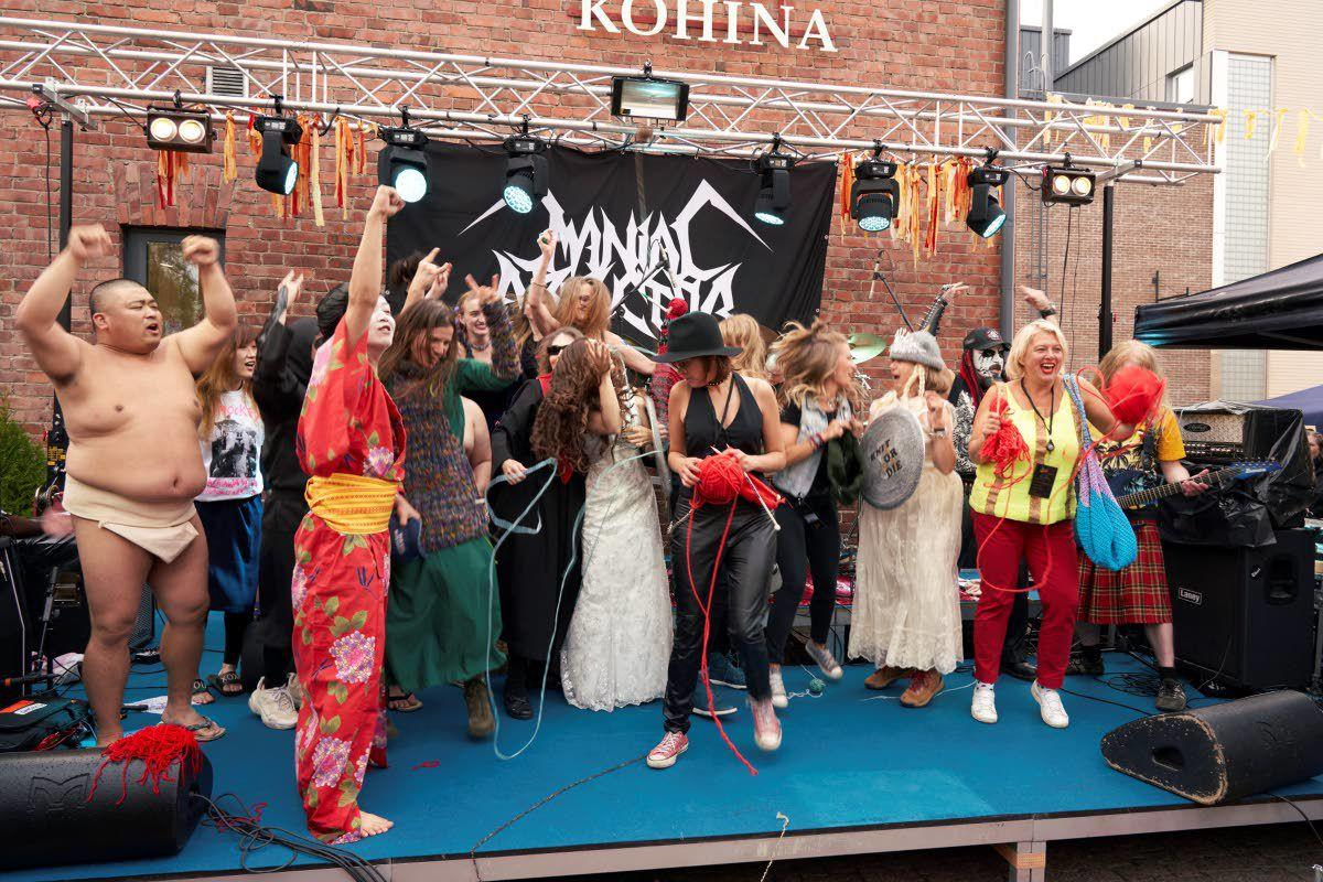 Purl jam: Finland holds a heavy metal knitting contest