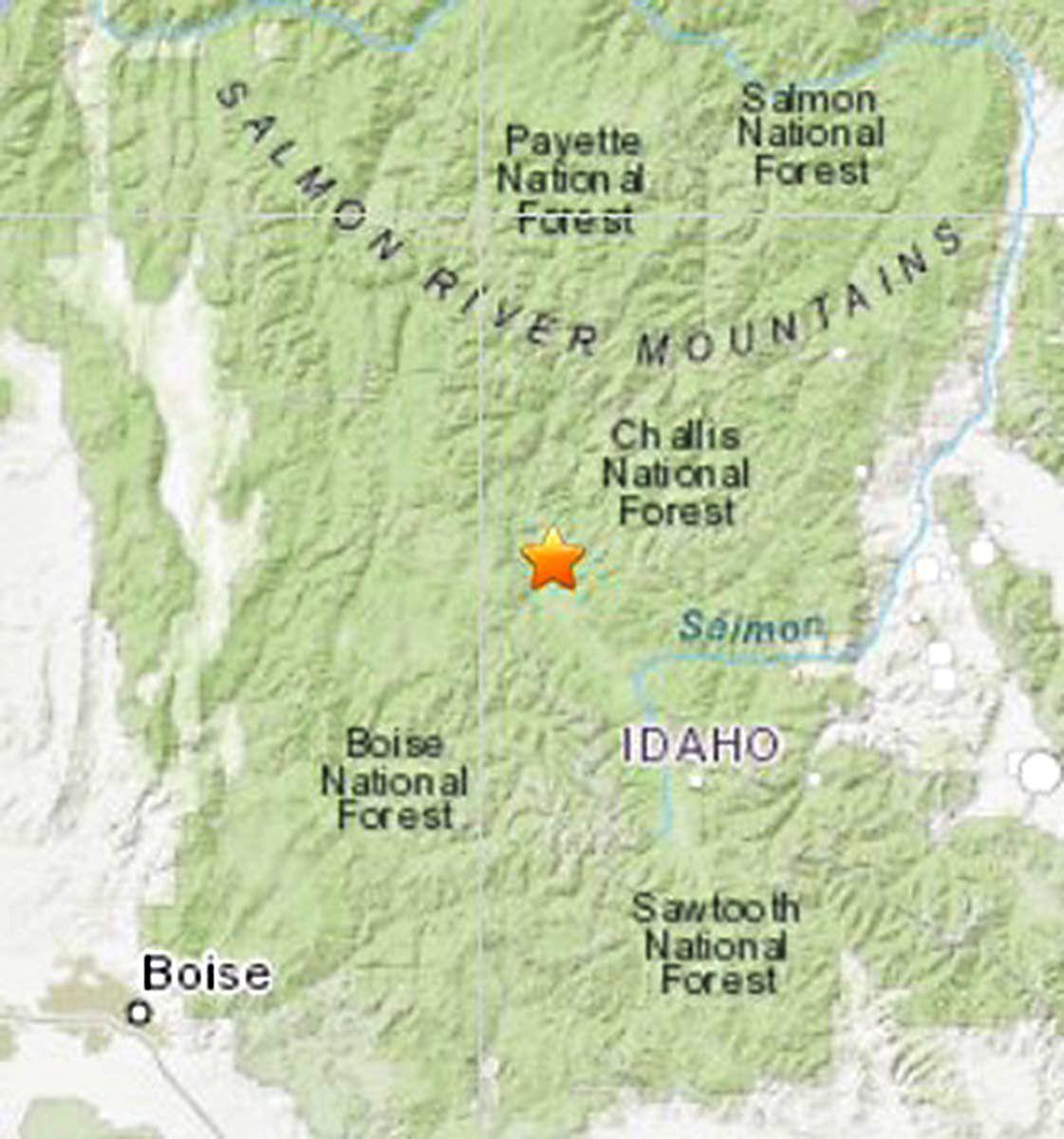 Strong quake rattles Idaho