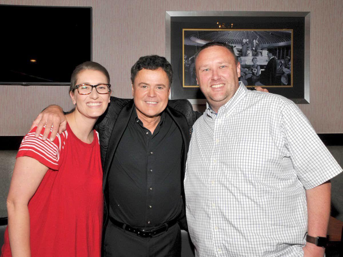 Rubbing elbows with Donny and Marie