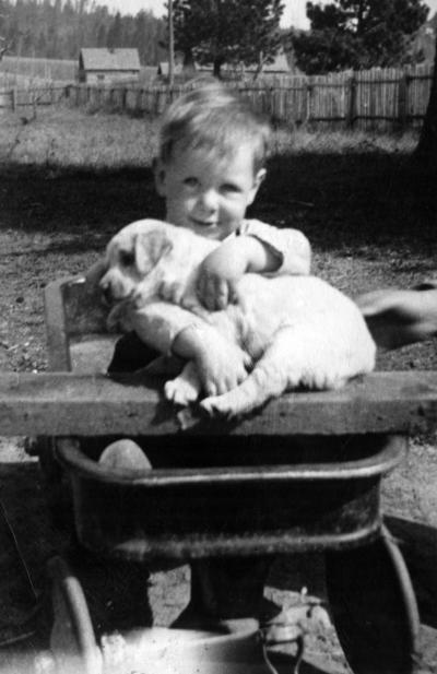 Blast from the Past / 1937: A Teakean boy and his puppy