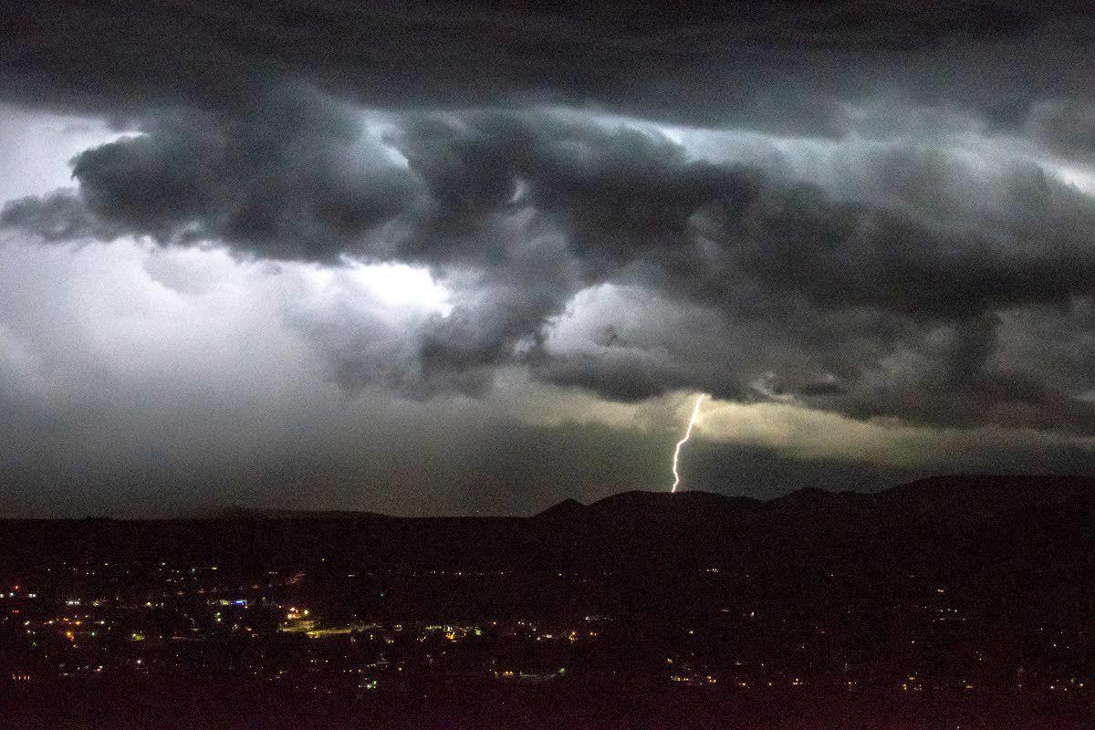 Summer storm swirls through