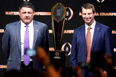 Nice-guy coaches clash in CFP title game