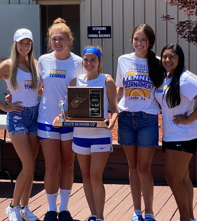 20210609-log-state tennis results Logan girls tennis team