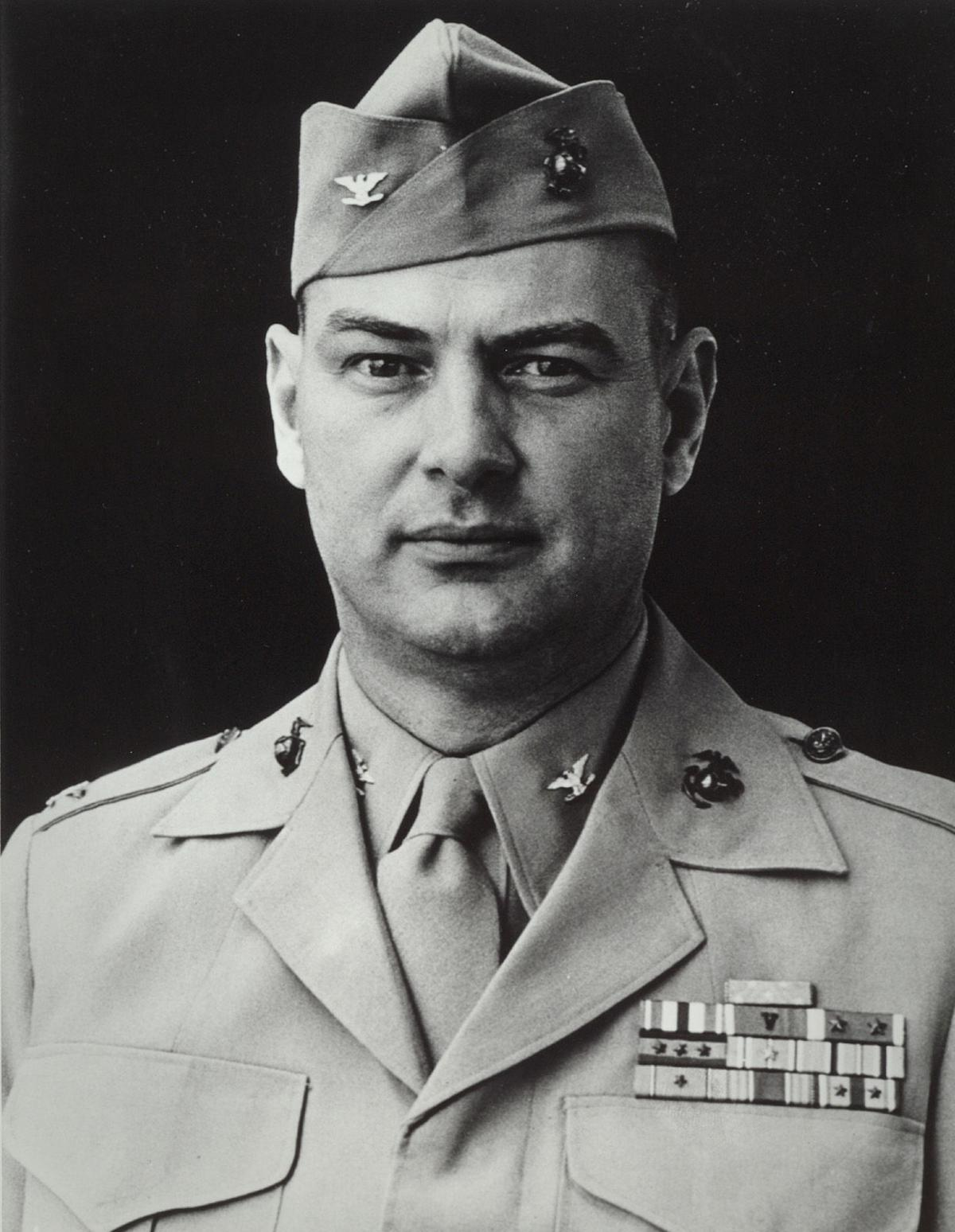 Justice M. Chambers, USMC, Medal of Honor recipient; photo from official Marine Corps biography